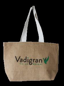 sac réutilisable en toile de jute