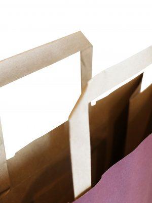 sac papier poignées plates
